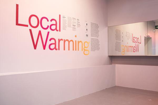 Inside MIT Senseable City Lab's exhibition at the 2014 Venice Biennale.
