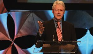 "President Bill Clinton, Greenbuild's keynote speaker, highlighted the Clinton  Climate Initiative's partnerships and their efforts to ""show the world  that the solution to the climate crisis isn't far off in the future."""