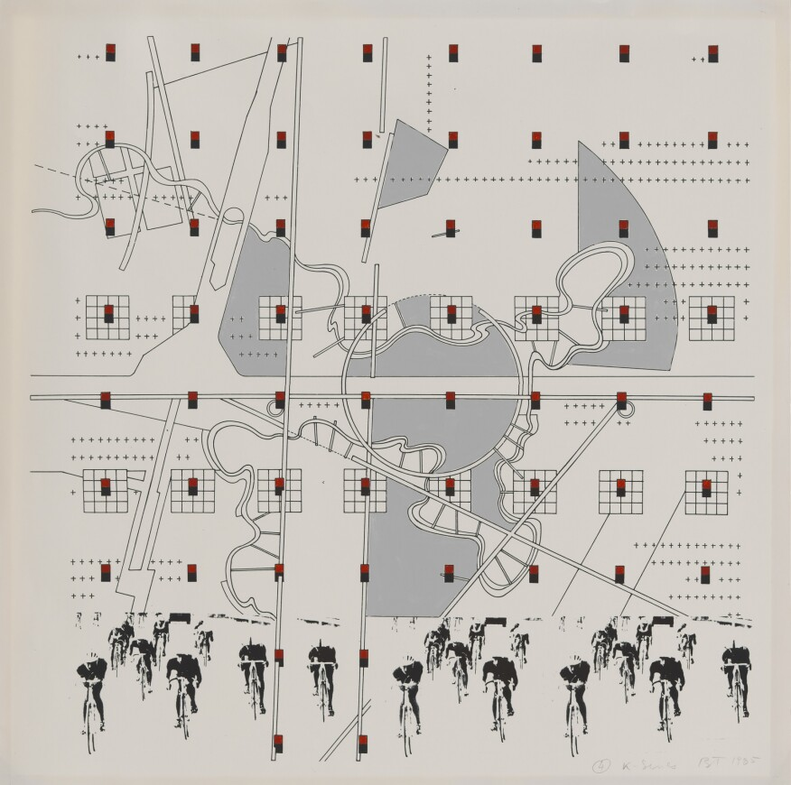 Bernard Tschumi, Study for the folio La Case Vide, La Villette, #3 from the K Series, 1985. © Bernard Tschumi. From the Collection of the Alvin Boyarsky Archive.