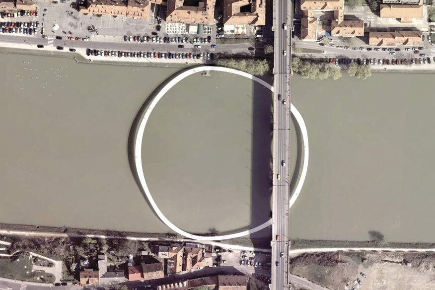 A circular Central Bridge in Maribor, Slovenia, was part of Family's 2010 proposal.