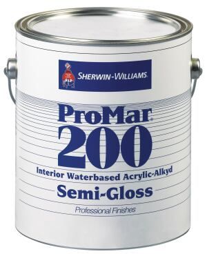 Sherwin-Williams coating solution for high-volume commercial environments, ProMar 200 is now available as a water-based acrylic-alkyd coating, which reduces environmental impact. Combining the smooth finish of alkyd coatings with the non-yellowing properties of acrylic coatings, ProMar 200s water base reduces the high-VOC content normally found in alkyd paints. ProClassic for wood trim and accents is also available as water-based acrylic-alkyd coating. sherwin-williams.com