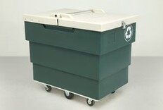 Recycling carts customized with extra safety, security features