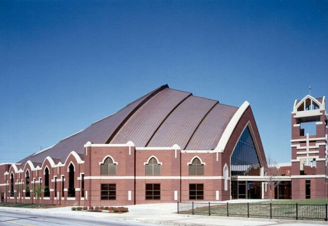The Horizon Sanctuary, designed by Stanley, Love-Stanley, houses the Ebenezer Baptist Church in Atlanta.