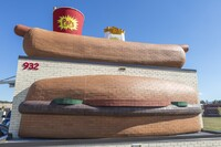Chew on This: Fast Food Joint Builds Brick Hot Dog and Burger