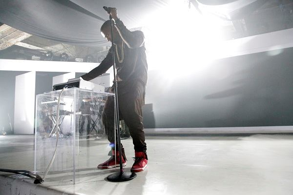 Kanye West performs live in New York City in October 2012.