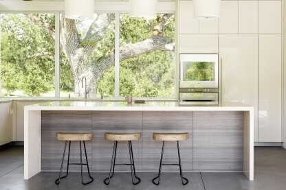Linear Kitchen Blurs Indoor/Outdoor Divide