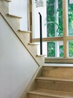 Tube steel baluster for double support