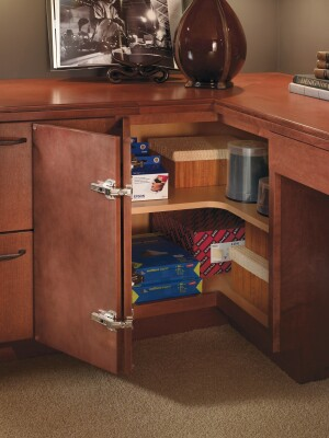Schrock cabinetry, corner cabinet, corner kitchen storage