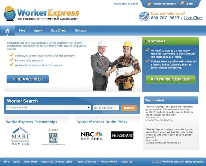Need a Hand? Worker Express Screens and Hires Tradespeople for the Construction Industry