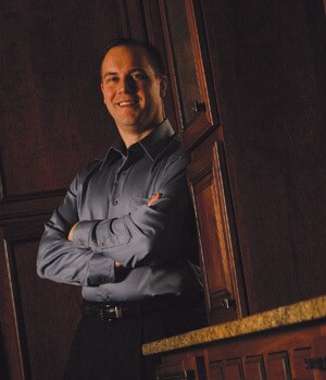 "Joel Kristianson, owner of Crimson Design & Construction, in Naperville, Ill., offers a five-year warranty. Even if a customer complaint is due to a manufacturer issue, Kristianson believes it's his company's challenge. ""Don't quibble over it,"" he says. Taking care of those issues is ""part of being a professional remodeler."""