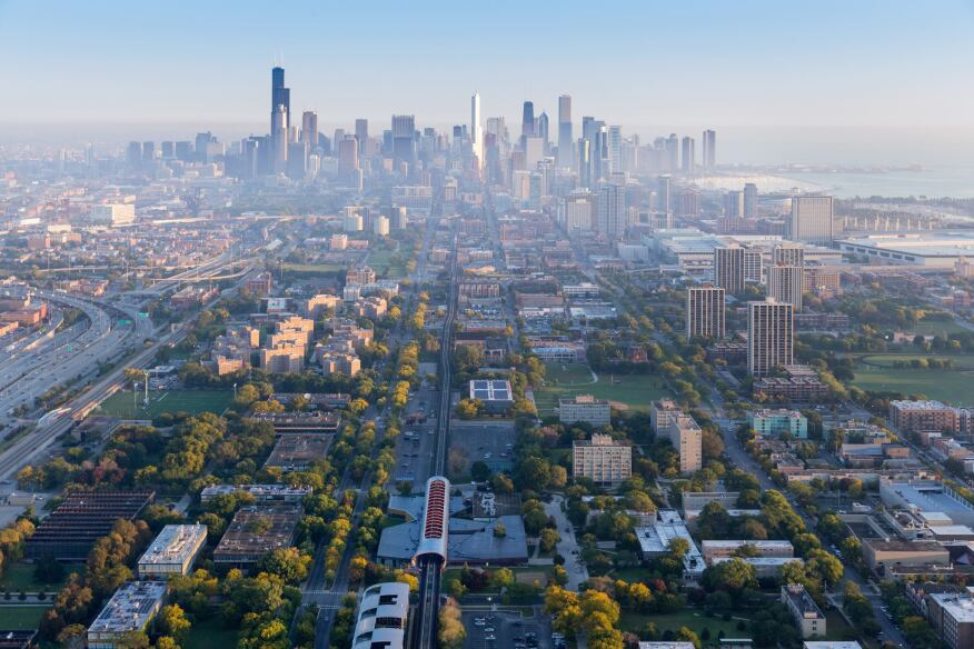 A photograph of Chicago commissioned by the Chicago Architecture Biennial.