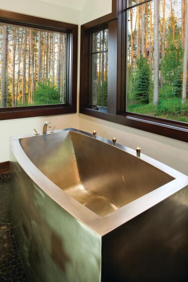 Stainless Steel Contemporary Oval Bath by Diamond Spas