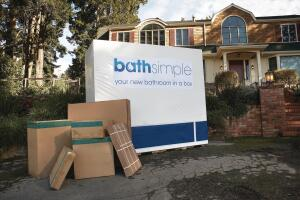 Sizing & Shipping  The heavy cardboard boxes come in two sizes: 48 inches by 85 inches by 60 inches tall and 39 inches by 48 inches by 58 inches tall. For $3,000 to $7,000 baths, there is a $250 delivery fee; baths over $7,000 ship for free.