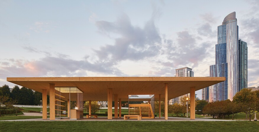 Ultramoderne's Chicago Horizon, winner of the lakefront kiosk competition