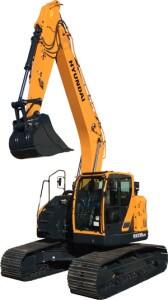 The HX235LCR excavator
