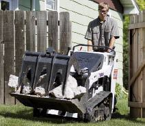 Figure 2. In a tracked configuration, subcompact loaders impose a load of only about 5 psi, minimizing — although not eliminating — turf damage on finished lawns.