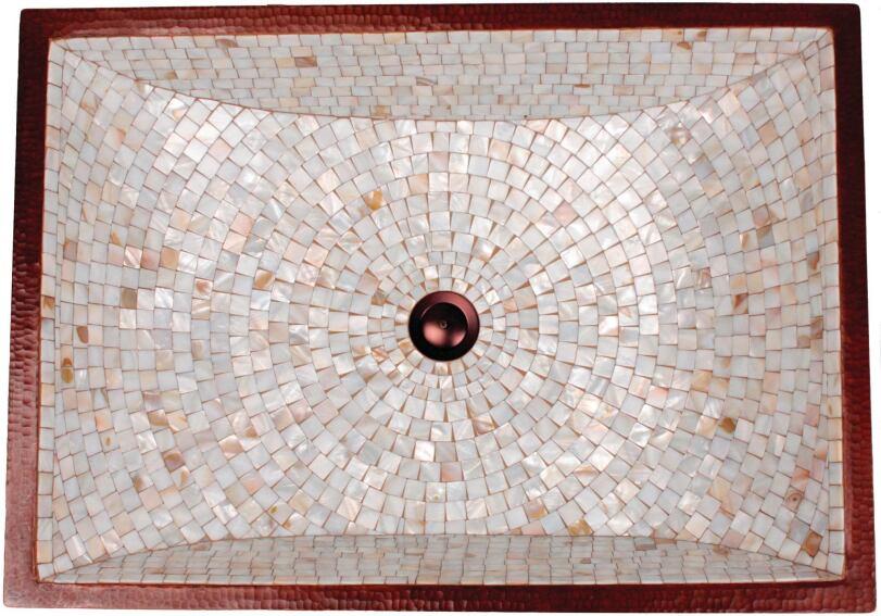 Linkasink's Rectangular Crescent Mosaic Sink