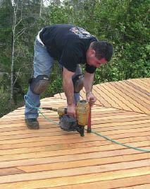 Figure 1. Nailing remains a viable and effective way to fasten decking, particularly when price is a big consideration.