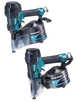 Makita AN911H framing nailer (top image); AN610H siding nailer