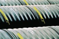 Protective film for corrugated steel pipe