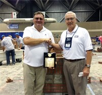 Bill Kjorlien and current Skills USA Masonry Technical Committee Chairman Bryan Light.