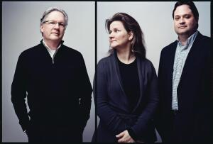 Left to right: Vincent James, Jennifer Yoos, and Nathan Knutson