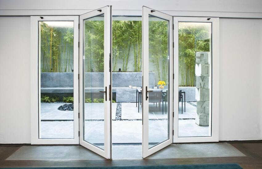 Nana Wall Systems VSW65 Single Track Sliding System with Center Swing Doors