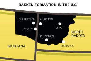 Cash Cow: The Bakken formation is the largest oil deposit in the continental U.S., underlying parts of North Dakota and Montana plus Saskatchewan in Canada. The U.S. government estimates Bakken will produce 350,000 barrels a day by 2035, and state officials say 11 billions barrels of oil could lie beneath North Dakota alone.