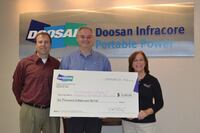 Doosan Portable Power Makes Donation to Susan G. Komen for the Cure