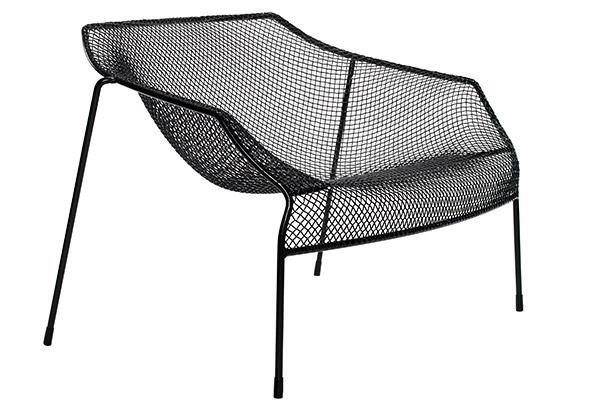 The sweet hereafter comes down to earth in this outdoor chair collection from Coalesse, designed by French designer Jean-Marie Massaud. Available in three powder-coat finishes, the collection includes an armchair, side chair, and lounge chair, as well as tables, vases, and stools. The chairs are made of 34% recycled content. coalesse.com