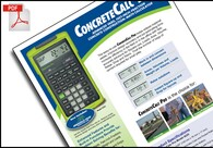 ConcreteCalc Pro – the pro's tool for concrete, masonry and paving
