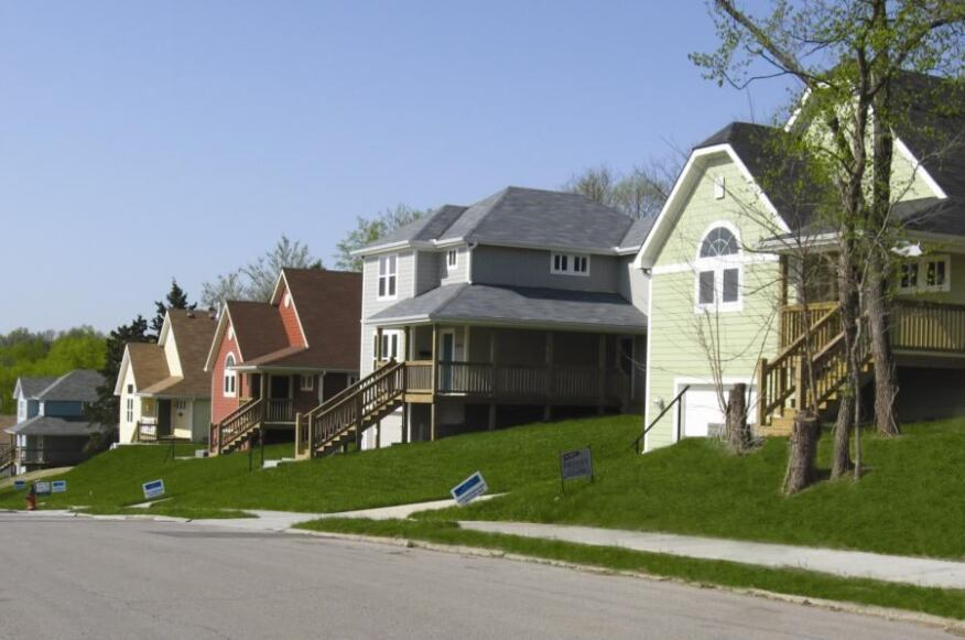 STAR STREET: All five units of the Olive Street Homes project in Kansas City, Mo., each about 1,550 square feet and selling in the $140s, will save qualified low-income families an estimated $500 a year in utility bills because they are built to Energy Star qualifications.