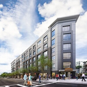 Treadmark in Dorchester, Mass., will have 83 units of mixed-income housing, including 51 affordable rental units and 32 ownership units, and about 5,000 square feet of retail space.