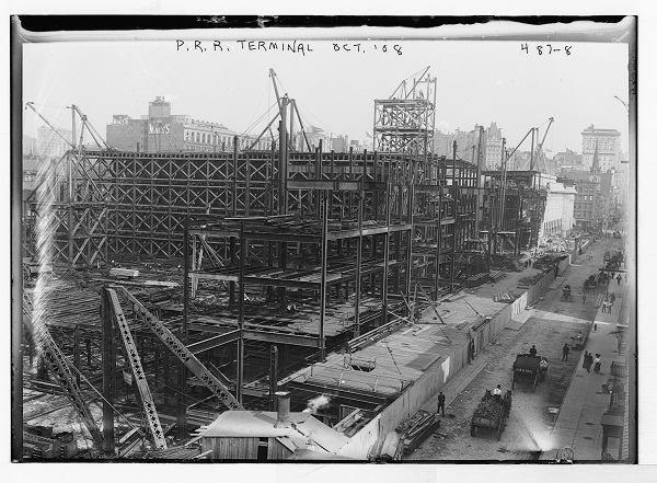 Penn Station under construction