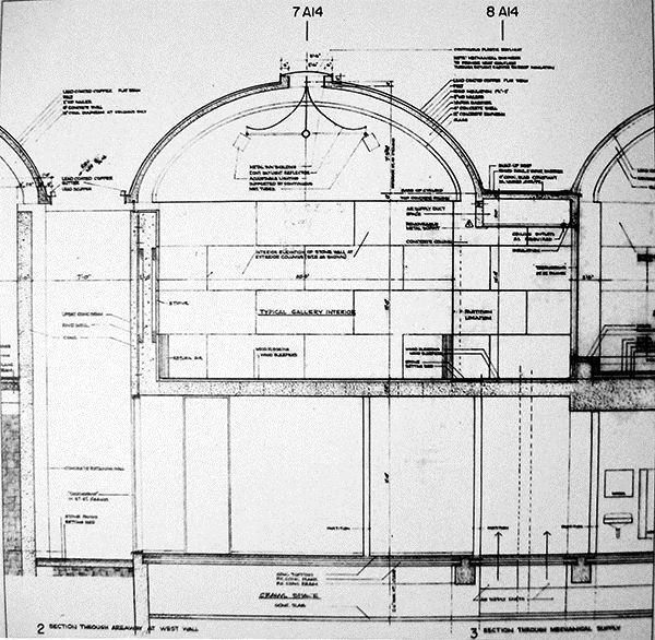Gallery section drawing.