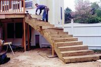 Laminating Stringers for Curved Deck Stairs