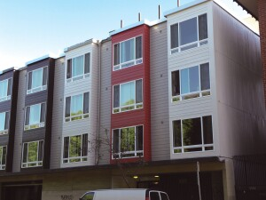 Over the past two years, Bank of America Merrill Lynch has provided $2.2 billion in debt and equity financing to 29 projects that the San Francisco Housing Authority has taken through the federal Rental Assistance Demonstration program, including 227 Bay Street (above).