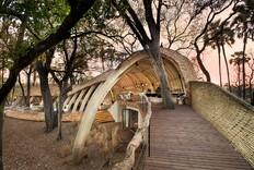 Design Detail: The Sandibe Okavango Safari Lodge's Wooden Wall