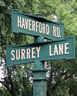 Lower Merion Township's (Penn.) street signs date back nearly a century; a Federal Highway Administration mandate calls for them to be replaced with larger, retroreflective signs.