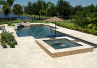 Ivory Select French Pattern Tumbled Travertine Pavers
