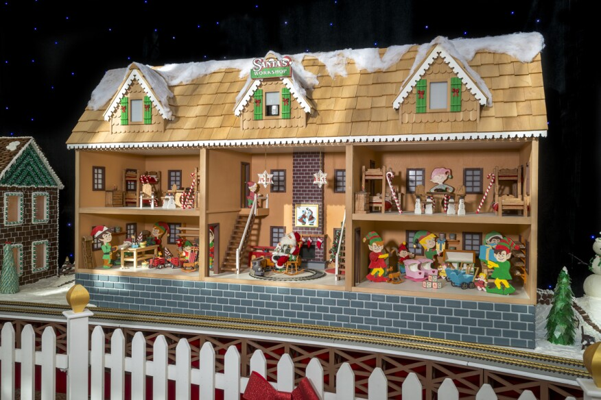 Exterior of Santa's workshop.
