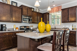 A kitchen in a new home built by Level Homes in The Traditions at Wake Forest community.