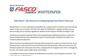 Sub-Floors: The Secret to Creating Squeak-less Floors That Last