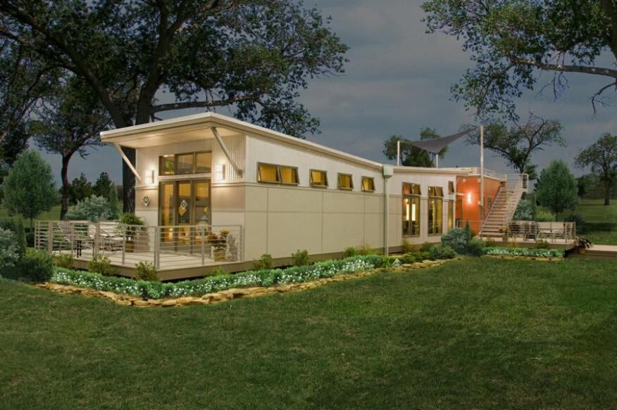 Reminiscent In Shape Of Old Style Mobile Homes The I Houses Contemporary Styling
