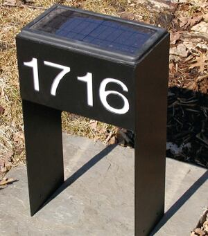 black box  Frustrated in her search for an attractive street number display, Nettleton designed one herself. As dusk falls, a photovoltaic lens illuminates the silhouetted numbers in the powder-coated steel box. Nettleton says her invention, with its easy-to-spot style and size, has been so well-received she's now producing the device. Sarah Nettleton Architects, 612.334.9667.