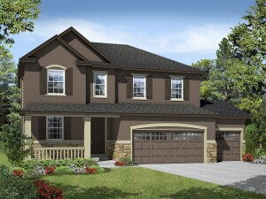 Rendering of a Richmond American single-family home planned for Littleton Village.