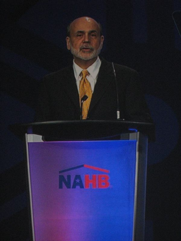The Chairman Speaks: Federal Reserve Chairman Ben Bernanke addressed a packed audience of builders and suppliers at the 2012 International Builders' Show.