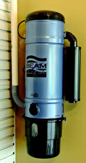 SERENITY NOW: The EPA has deemed indoor air quality a major concern, which is why Beam Industries' Serenity  Plus Series Model 2775 central vacuum system is in the house. Outfitted  with a HEPA filter, the built-in system is up to five times  more powerful than an upright and removes dirt, dust mites, pollen, and other  allergens, depositing them in a canister in the garage.