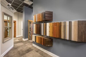 Hidden Gem. At BMC's Salt Lake City design center, samples are kept in a separate area so that customers aren't overwhelmed  with choices.