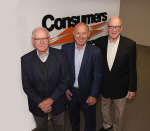 Pictured left to right: Steve Thomas (Vice Chairman), Bruce Blair (CEO), and Tom Thomas (Chairman).